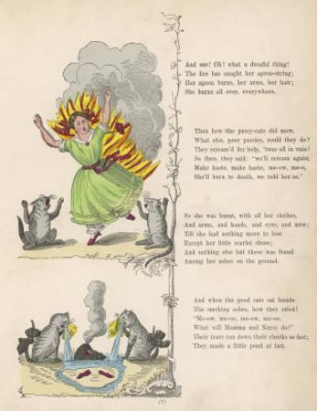 "The Dreadful Story About Harriet and the Matches ""She Burns All Over Everywhere"" by Heinrich Hoffmann"