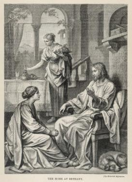 Jesus Talks with Mary While Martha Does Housework by Heinrich Hofmann