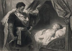 Othello Approaches the Sleeping Desdemona by Heinrich Hofmann