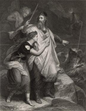 The Tempest, Prospero and Miranda Watch the Shipwreck by Heinrich Hofmann