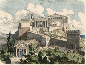 Ancient Greece: Athens, Acropolis - Parthenon, by Heinrich Leutemann