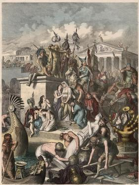 Ancient Rome: Plundering of Rome by the Vandals, on 2nd June 455, by Heinrich Leutemann