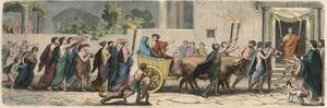 Greek at the time of the Republics: Wedding Procession, by Heinrich Leutemann