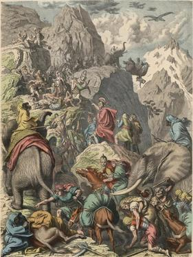 Second Punic War : Hannibal crossing the Alps, by Heinrich Leutemann