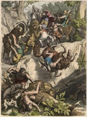 The Carthaginians: Lion Hunt, by Heinrich Leutemann