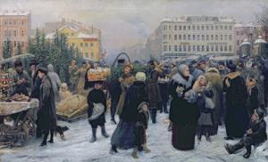 Christmas Fair by Heinrich Matvejevich Maniser