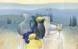 Still Life in Toscana II by Heinz Hock