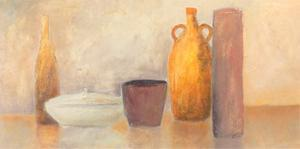 Still Life with Yellow Bottle by Heinz Hock