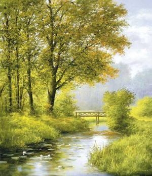 Dreamy Creek II by Heinz Scholnhammer