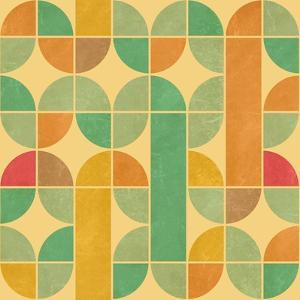 Retro Abstract Seamless Pattern With Seamless Texture by Heizel