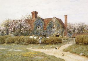A Buckinghamshire House at Penstreet by Helen Allingham
