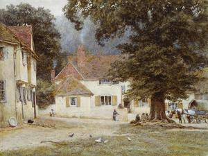 A Cart by a Village Inn, 1878 by Helen Allingham