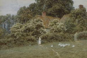 A Cottage at Farringford, Isle of Wight by Helen Allingham