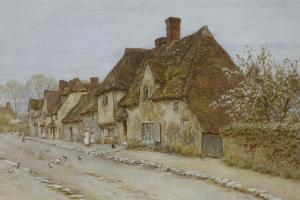A Village Street, Kent by Helen Allingham