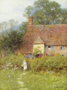 By the Cottage Gate by Helen Allingham