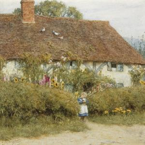 Cottage at West Horsley, Surrey by Helen Allingham