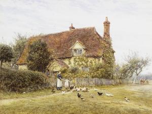 Feeding Poultry by Helen Allingham