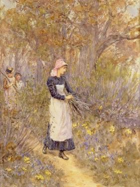 Gathering Wood for Mother by Helen Allingham