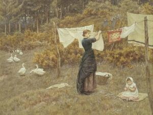 Hanging the Washing by Helen Allingham