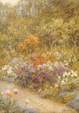 In the Kitchen Garden, Farringford by Helen Allingham