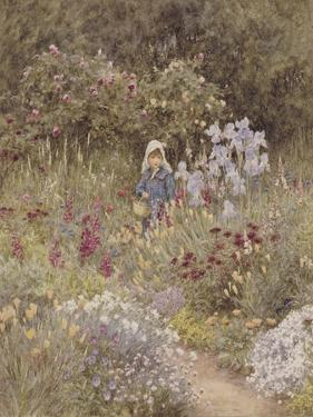 Minna, Illustration to 'Happy England' by Marcus Huish, Pub. by a and C Black, 1904 by Helen Allingham