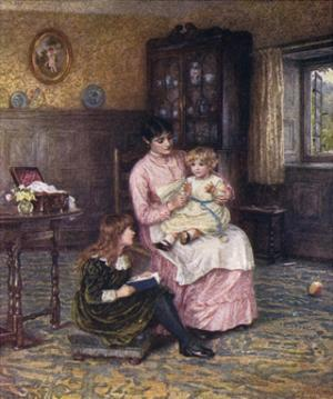 Nanny with Children by Helen Allingham