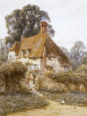 Near Witley, Surrey (Watercolour with Scratching Out) by Helen Allingham