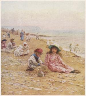 Sandown Beach Children by Helen Allingham