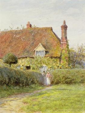 Sunflower Cottage by Helen Allingham