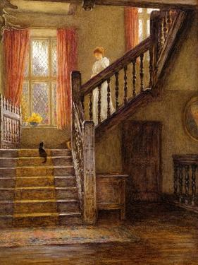 The Staircase, Whittington Court, Gloucestershire by Helen Allingham