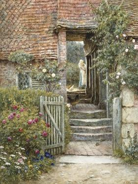 Under the Old Malthouse, Hambledon, Surrey by Helen Allingham
