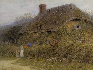Woman by a Cottage Gate by Helen Allingham