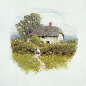 Young Girl by the Cottage Gate by Helen Allingham