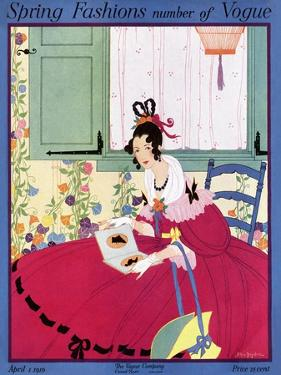 Vogue Cover - April 1916 by Helen Dryden