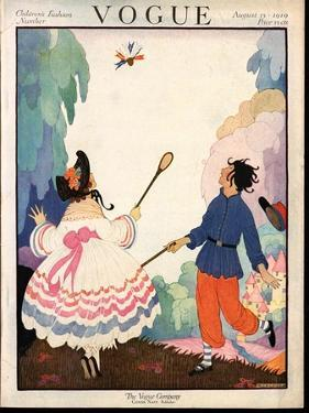 Vogue Cover - August 1919 by Helen Dryden