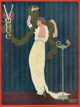 Vogue Cover - December 1912 by Helen Dryden
