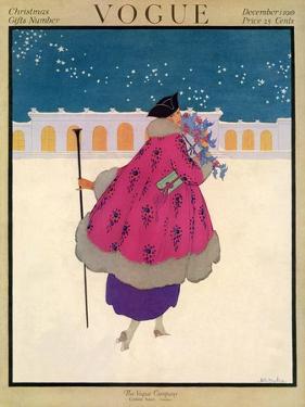 Vogue Cover - December 1916 by Helen Dryden