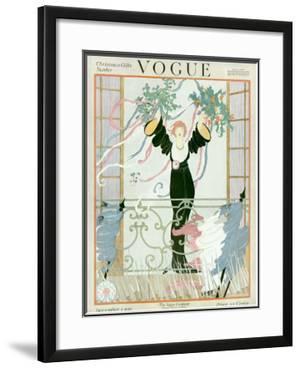 Vogue Cover - December 1918 by Helen Dryden