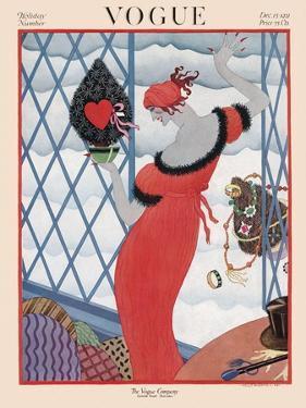 Vogue Cover - December 1921 by Helen Dryden