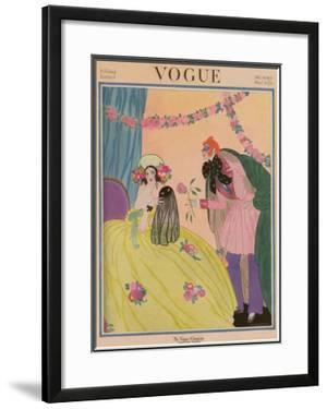 Vogue Cover - December 1922 by Helen Dryden