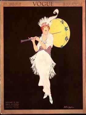 Vogue Cover - January 1914 by Helen Dryden