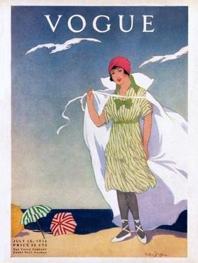 Vogue Cover - July 1912 by Helen Dryden