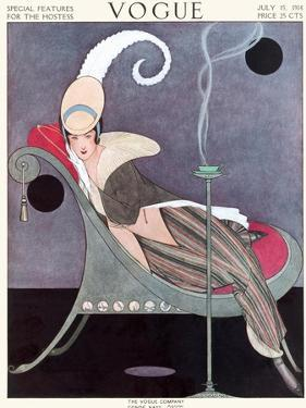 Vogue Cover - July 1914 by Helen Dryden