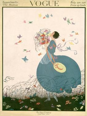 Vogue Cover - July 1916 by Helen Dryden