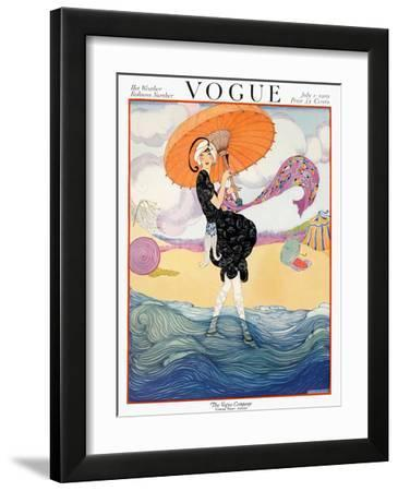 Vogue Cover - July 1919 by Helen Dryden