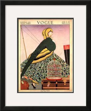Vogue Cover - June 1914 by Helen Dryden