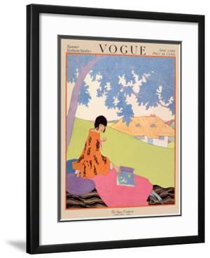 Vogue Cover - June 1917 by Helen Dryden
