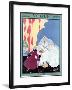 Vogue Cover - May 1916 by Helen Dryden