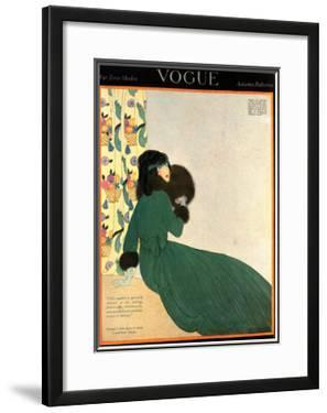 Vogue Cover - October 1918 by Helen Dryden