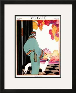 Vogue Cover - October 1922 by Helen Dryden